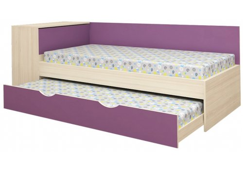 Pat sandwich Mickey - stejar nisipos si violet - Paturi