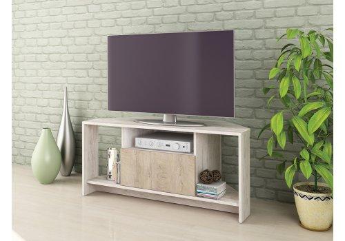Modul TV Alfa 60 - Stejar Blanco si stejar norte - Comode TV