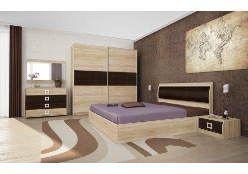 Set dormitor Doris - stejar Sonoma si wenge - Comparare Produse