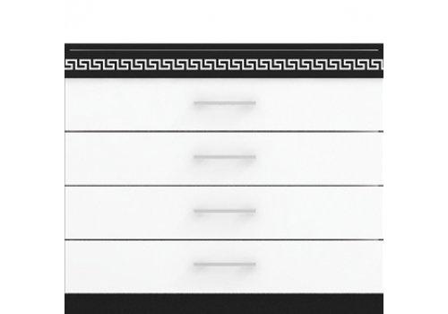 Comoda Valeria Pacific - negru si alb - Comode