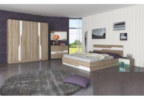 Set dormitor Viena - Sonoma inchis si alb - Comparare Produse
