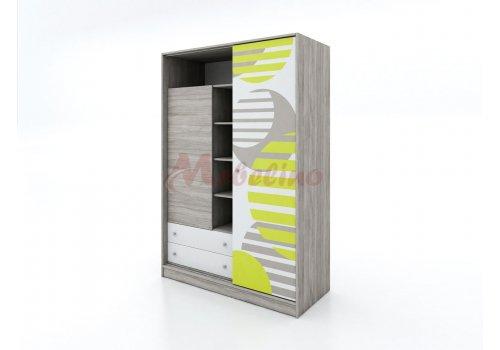 Dulap cu usa glisanta si imprimare City 1021 - Camera copiilor