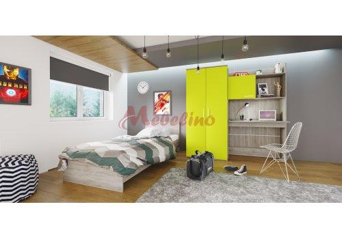 Mobilier copii  City 5014 cu mecanism de ridicare pentru saltea 90x200 - Camera copiilor