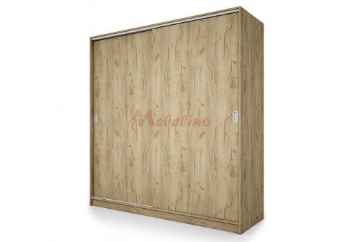 Dulap City 1009 stejar Gran Sasso cu usi glisante - 180 cm - Dulapuri de dormitor