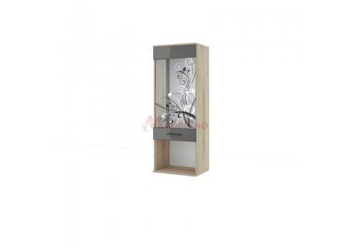 Vitrina Besta 79 cu sticla imprimata - Dulapuri si vitrine