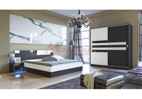 Set dormitor City 7022 cu mecanism de ridicare si iluminare LED - Seturi de dormitoare