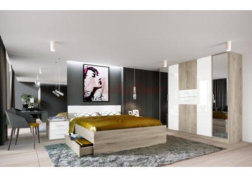 Mobilier dormitor City 7033 cu iluminare LED - Comparare Produse
