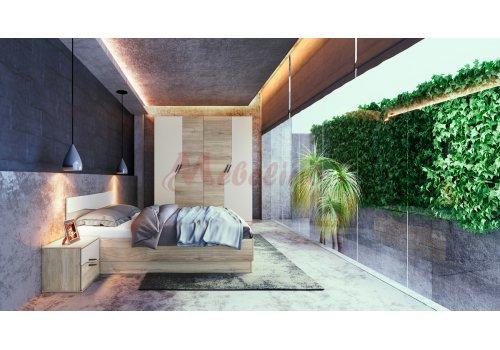 Mobilier dormitor City 7042 cu iluminare LED si  mecanism de ridicare - Comparare Produse