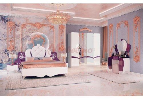Спален комплект Дилара с ВКЛЮЧЕН МАТРАК, повдигащ механизъм и LED осветление в гардероба - Спални комплекти с матраци