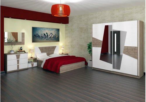 Спален комплект Деси с ВКЛЮЧЕН МАТРАК, скрин, огледало и повдигащ механизъм - Спални комплекти с матраци