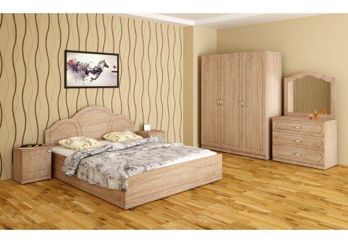 Спален комплект Лора с ВКЛЮЧЕН МАТРАК, скрин, огледало и повдигащ механизъм - Спални комплекти с матраци