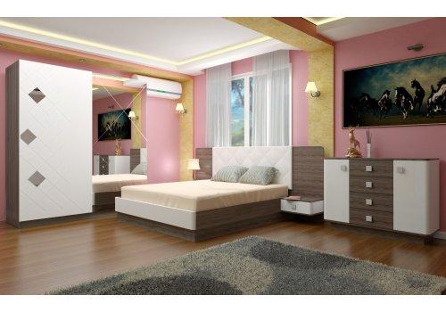 Спален комплект Милано с ВКЛЮЧЕН МАТРАК скрин и повдигащ механизъм - Спални комплекти с матраци