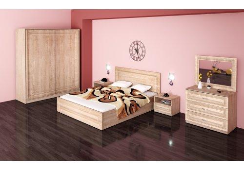Спален комплект Стела с ВКЛЮЧЕН МАТРАК, скрин, огледало и повдигащ механизъм - Спални комплекти с матраци