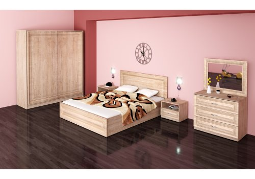 Set dormitor Stella comoda , oglinda si mecanism de ridicare - Seturi de dormitoare