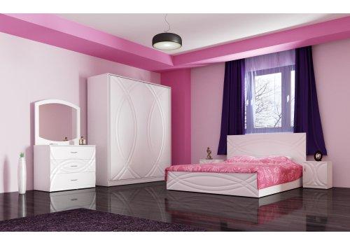Спален комплект Ванеса с ВКЛЮЧЕН МАТРАК, скрин, огледало и повдигащ механизъм - Спални комплекти с матраци