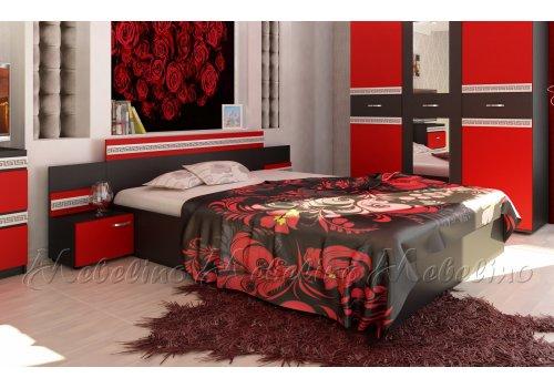 Легло Рока с 2 нощни шкафчета и декоративен профил - Легла